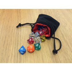 Small Velvet Bag o' Dice (9x10cm bag, 20 dice)