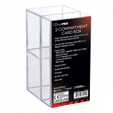 Ultra Pro - Two Compartment Card Box