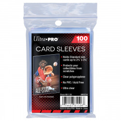"Ultra Pro Soft Card Sleeves - 2-1/2"" X 3-1/2"", 100ct"