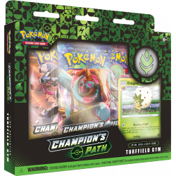 Pokemon - SWSH3.5 Futuri Campioni - Collezione con Spilla Turffield Gym