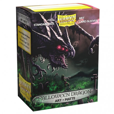 Dragon Shield - Art 100 Sleeves - Halloween Dragon 2020