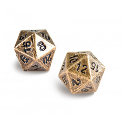 Ultra Pro - Heavy Metal D20 2-Dice Set - Antique Bronze