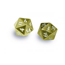 Ultra Pro - Heavy Metal D20 2-Dice Set - Gold