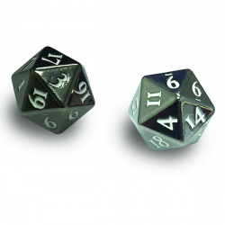 Ultra Pro - Heavy Metal D20 2-Dice Set - Gun Metal