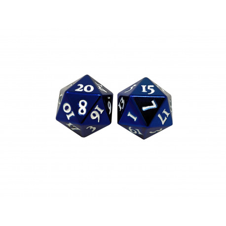 Ultra Pro - Heavy Metal D20 2-Dice Set - Blue
