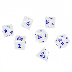 Ultra Pro - Dungeons & Dragons Heavy Metal 7 RPG Dice Set - Icewind Dale