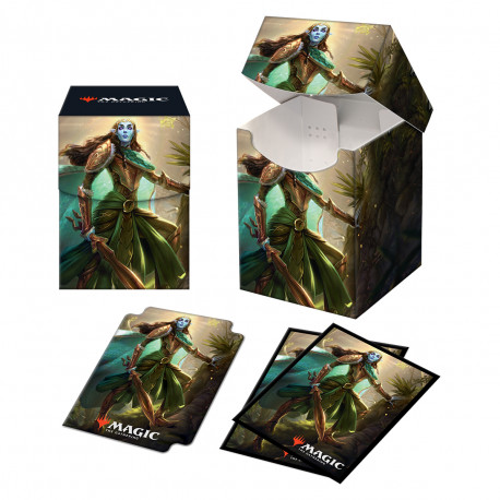 Ultra Pro - Kaldheim Combo Deck Box & 100 Sleeves - Lathril, Blade of the Elves
