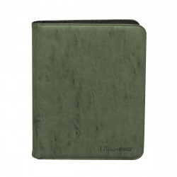 Ultra Pro - Suede Zippered Premium 9-Pocket PRO-Binder - Emerald