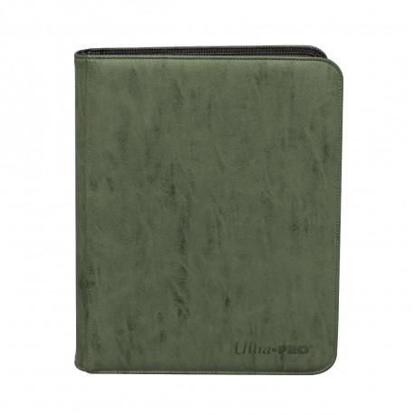 Ultra Pro - Suede Zippered Premium 9-Pocket PRO-Binder - Emerald
