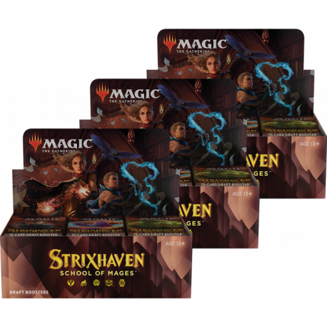 Strixhaven: School of Mages - 3x Draft Booster Box