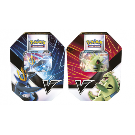 Pokemon - V Strikers Tin - Set (Tyranitar V & Empoleon V)