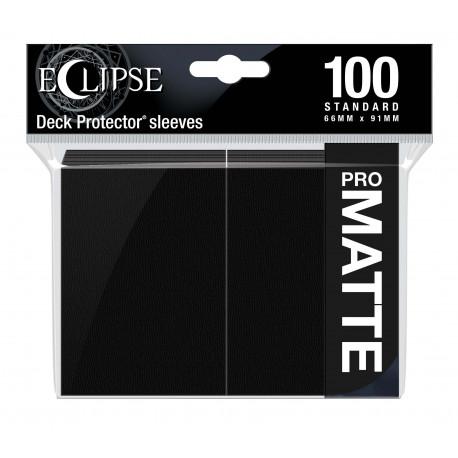Ultra Pro - Eclipse Matte 100 Sleeves - Jet Black