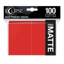 Ultra Pro - Eclipse Matte 100 Sleeves - Apple Red