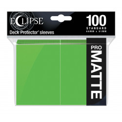 Ultra Pro - Eclipse Matte 100 Sleeves - Lime Green
