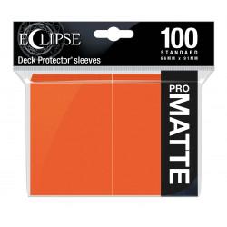 Ultra Pro - Eclipse Matte 100 Sleeves - Pumpkin Orange