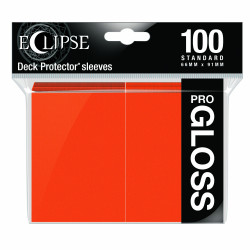 Ultra Pro - Eclipse Gloss 100 Sleeves - Pumpkin Orange