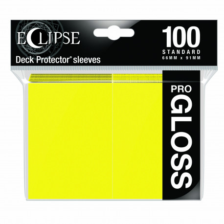 Ultra Pro - Eclipse Gloss 100 Sleeves - Lemon Yellow