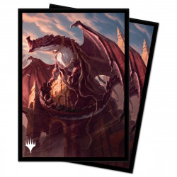 Ultra Pro - Strixhaven 100 Sleeves - Velomachus Lorehold