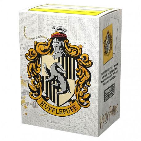 Dragon Shield - WizardingWorld Art 100 Sleeves - Hufflepuff