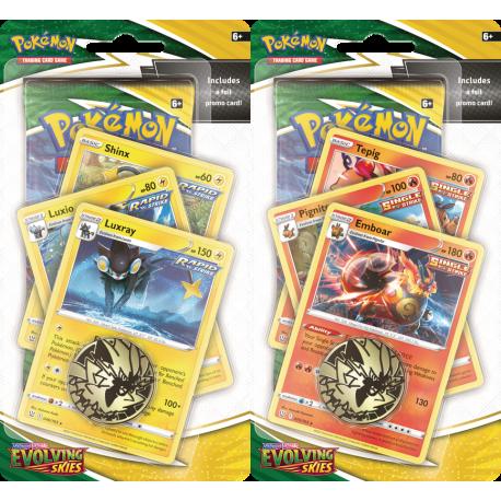 Pokemon - SWSH7 Evolving Skies - Premium Checklane Blister Set