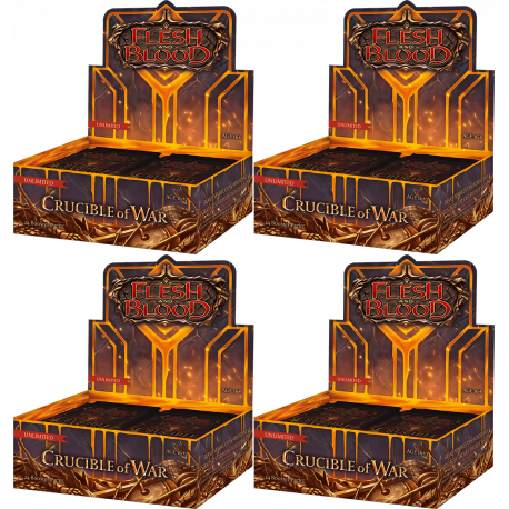 Flesh and Blood TCG - Crucible of War - Unlimited Edition Booster Case (4 Displays)