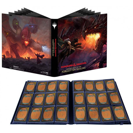 Ultra Pro - Adventures in the Forgotten Realms 12-Pocket PRO-Binder - Tiamat & Drizzt