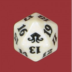 D20 Spindown Die - Eldritch Moon - White