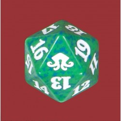 D20 Spindown Die - Eldritch Moon - Green