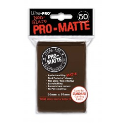 Ultra Pro - Pro-Matte Standard 50 Sleeves - Brown