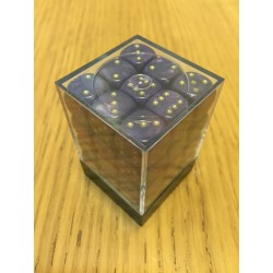 D6 Brick 12mm Glitter Dice (36) - Purple