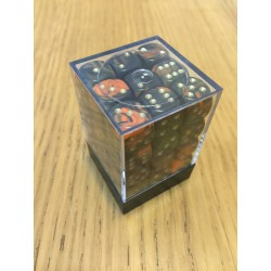 D6 Brick 12mm Special Dice (36) - Orange/Black