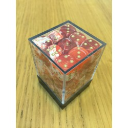 D6 Brick 12mm Special Dice (36) - Red/White