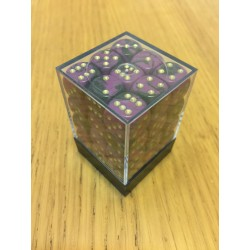 D6 Brick 12mm Special Dice (36) - Purple/Black