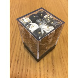 D6 Brick 12mm Special Dice (36) - White/Black