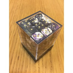 D6 Brick 12mm Special Dice (36) - White/Purple
