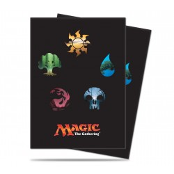 UP - Standard Deck Protector 80ct Sleeves - Mana 5 Symbols