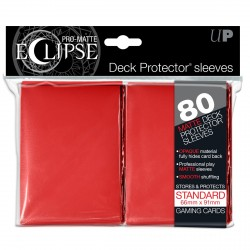 Ultra Pro - Pro-Matte Eclipse Standard 80ct Sleeves - Red