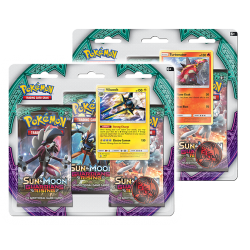 Pokemon - SM2 Guardians Rising 3 Pack Blister - Bundle (Turtonator + Vikavolt)