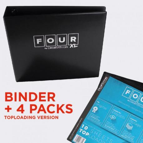DeckTutor - FOUR XL - 12-Pocket Binder + 40 Sheets Top Loading